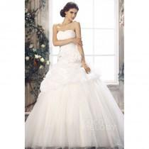 wedding photo - Sexy Princess Sweetheart Dropped Waist Chapel Train Organza Wedding Dress CWLT13081 - Top Designer Wedding Online-Shop