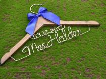 wedding photo - shower gifts custom madewedding Hangers,Bridal Hangers,Wedding Gift,Bride gift.alized Wedding Hangers,,Name Hanger,