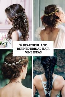 wedding photo - 32 Beautiful And Refined Bridal Hair Vine Ideas - Weddingomania