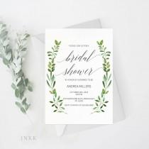 wedding photo - Bridal Shower Invitation Template, Rustic Bridal Shower Wedding Printable, Wedding Shower Template, Shower Invite,PDF Instant Download #E018
