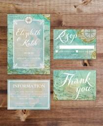 wedding photo - Travel Wedding Invitation Suite (Printable)