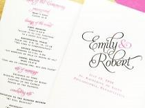 wedding photo - Wedding Programs, Bifold Folded Wedding Programs, Wedding Order of Service, Wedding Party, Church Wedding Ceremony Program