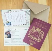 wedding photo - Personalised Passport Wedding Invitations UK