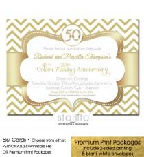 wedding photo - 50th Anniversary Invitation Golden Wedding Anniversary