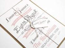 wedding photo - Vintage Type Wedding Invitation SAMPLE