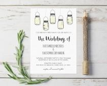 wedding photo - Rustic DIY Wedding Invitations Templates, Mason Jar Wedding Invitations Templates,  Instant Download Printable Wedding Invitations, Editable