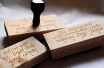 "wedding photo - Custom Calligraphy Address Stamp - All Calligraphy - 3"" x 1.5"""