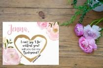 wedding photo - SET OF 4 or more Scratch-Off Will you be my Bridesmaid Cards - Maid of Honor, Matron of Honor, Bridesmaid Ask Card with Metallic Envelope