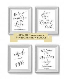 wedding photo - Sales 50% OFF DIY Wedding Sign Printable Bundle, Printable sign, Sign template, Editable sign, Digital Instant Download,  #1CM WS-1