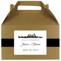 wedding photo - Skyline stickers for wedding welcome bags or gable boxes; available in any skyline; COMPLETELY CUSTOMIZABLE