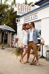 wedding photo - Coastal Luxe Boho Wedding Inspirational Shoot - Weddingomania