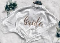 wedding photo - Lace bride Robe. Bride gift. Lace Bridal party robes. Bridesmaid gift. Bridal party gifts.Wedding robe. Bridal shower gift. Bridesmaid robe.