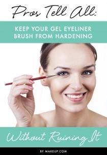 wedding photo - Keep Your Gel Eyeliner Brush From Hardening Without Ruining It