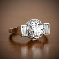 wedding photo - French Vintage Diamond Engagement Ring
