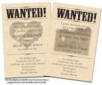 wedding photo - Wanted Poster Printable Wedding Invitations & Reply Cards