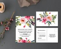 wedding photo - Printable Wedding Invitation Set