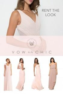 wedding photo - Designer Bridesmaid Dress And Little White Dress Rentals
