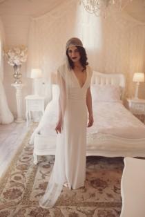wedding photo - Boho veil, 1920s veil, wedding veil, cap veil, Juliet veil, Juliet cap, side veil, Art Deco veil, Downton, Gatsby, 1930s veil, bohemian
