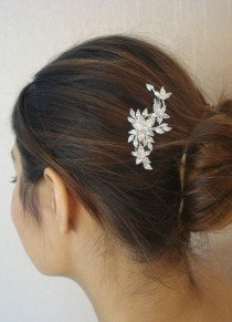 wedding photo - Bridal Zirconia Crystal Hair Comb, Wedding Jewelry, Small Silver Comb, Agnes - Ships in 1 business Day