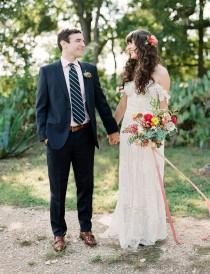 wedding photo - A Colorful + Contemporary Garden Wedding at Le San Michele in Texas