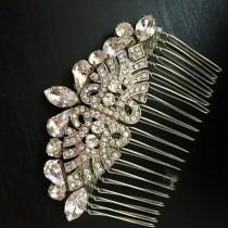 wedding photo - Bridal  Hair Comb - Art Deco -Wedding hair comb - Bridal Hair Accessories - Bridal Hair Comb - Bridal - Wedding comb - vintage hair comb