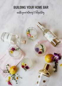 wedding photo - Building Your Home Bar with Your Macy's Registry