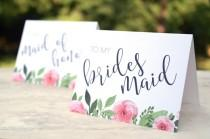 wedding photo - Bridesmaid Thank You Cards - Wedding Thank You Cards - Maid of Honor - Flower Girl - Matron of Honor