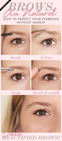 wedding photo - Brows, Au Naturel: Perfect Your Eyebrows Without Makeup .Makeup.com