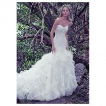 wedding photo - Amazing Tulle & Organza Sweetheart Neckline Mermaid Wedding Dresses With Beaded Lace Appliques - overpinks.com
