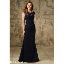 wedding photo - Mori Lee Bridesmaids 105 Chiffon and Lace Fit and Flare Dress - Crazy Sale Bridal Dresses