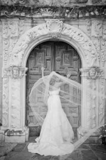 wedding photo - Straight cathedral length Wedding Bridal Veil 108 inches white, ivory or diamond