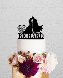wedding photo - Wedding Cake Topper,Batman Cake Topper,Custom Cake Topper,Mr And Mrs Cake Topper,Hero Cake Topper,Custom Cake  Topper