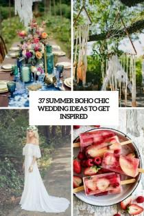 wedding photo - 37 Summer Boho Chic Wedding Ideas To Get Inspired - Weddingomania