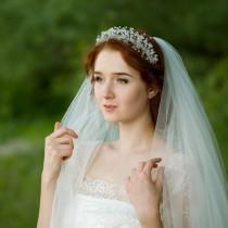 wedding photo - Wedding tiara Bridal tiara Crystal crown Wedding crown Crystal headpiece Bridal diadem Wedding headpiece Wedding hair accessories