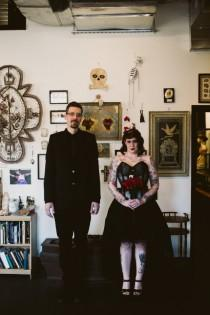 wedding photo - Gothic Wedding at the Morbid Anatomy Museum