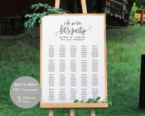 wedding photo - Wedding Seating Chart Template, Seating Chart Printable, Seating Board, Printable File, Editable PDF, DIY, Instant Download, Rustic Wedding