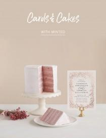 wedding photo - Current Trends: Cards + Cakes with Minted