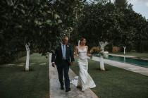 wedding photo - Stylish Atzaró Ibiza Destination Wedding With Watters Cora Bridal Gown