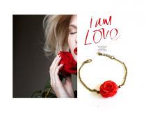 wedding photo - Red Rose Bracelet by Nikush Jewelry ...