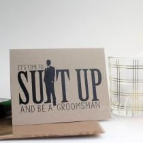 wedding photo - Suit up and be my groomsman - Will you be my groomsman - be my groomsman - groomsman card - groomsman proposal - groomsman invitiation
