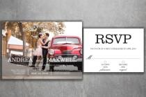 wedding photo - Affordable Photo Wedding Invitations Set Printed - Cheap Save the Date, Photo, Modern, Engagement photo, Invite, RSVP