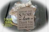 wedding photo - Wedding Favor // Smore Wedding Favor // Smore Favor Tags // Wedding Favor Tags // Smore Favors - Available 3 Tag Colors- BagLG