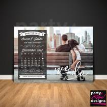 wedding photo - Calendar Save The Date, Photo Save The Date, Save The Date Invitation, Calendar Invitation, Photo Invitation, Printable Save The Date, STD17