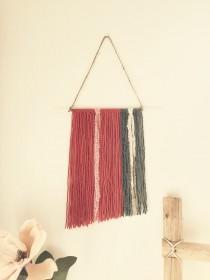 wedding photo - Red Rock - Boho Wall Hanging Wall Tapestry Bohemian Decor Bedroom Wall Decor Yarn Wall Art