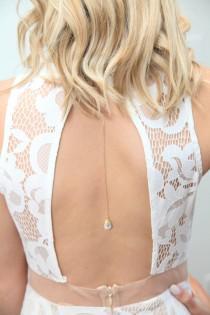 wedding photo - Rose /Gold Bridal Back Necklace,Back drop Necklace Wedding,Back Jewelry,Bridal Necklace,Wedding Accessories,Body Necklace,Bohemian Wedding