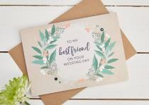wedding photo - Best Friend Wedding Day Card