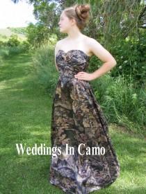 wedding photo - CAMO Bridesmaid Dress LONG bridesmaid dress in soft silk