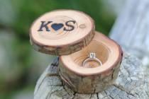 wedding photo - Monogrammed Ring Box