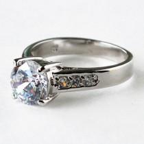 wedding photo - cz ring, cz wedding ring, cz engagement ring, engagement ring, solitaire ring, anniversary ring size 5 6 7 8 9 10 - MC1074871AZ