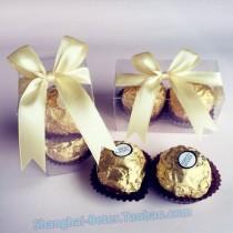 wedding photo - Beter Gifts® Transparent #CandyBox PVC002 #FERRERObox DIY #WeddingFavors #DIYWEDDING #favorbox